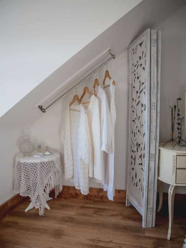Angled Attic Closet